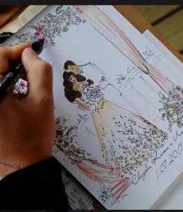 Свадебный скетч - художник на свадьбу